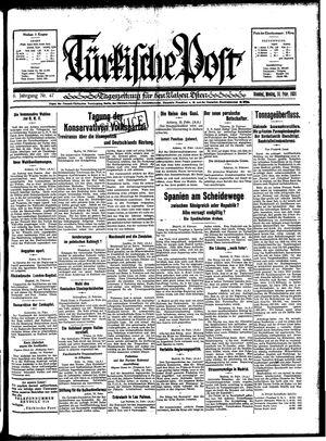 Türkische Post vom 16.02.1931