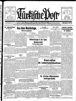 Türkische Post vom 24.02.1931