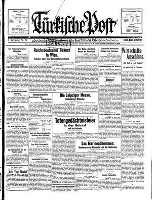 Türkische Post vom 02.03.1931