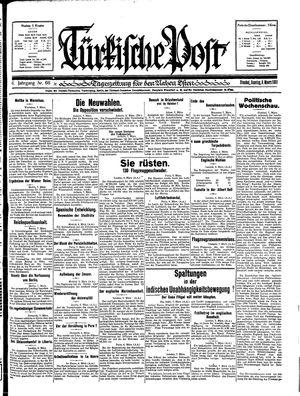 Türkische Post vom 08.03.1931