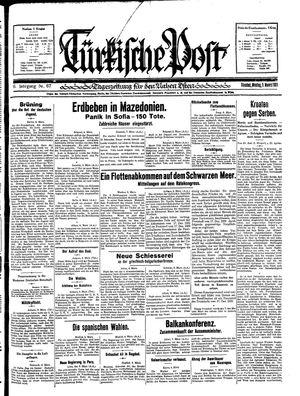 Türkische Post vom 09.03.1931