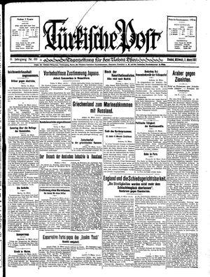 Türkische Post vom 11.03.1931