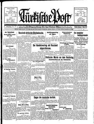 Türkische Post vom 17.03.1931