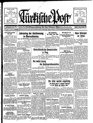 Türkische Post vom 20.03.1931