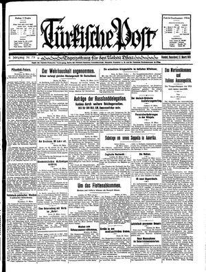 Türkische Post vom 21.03.1931
