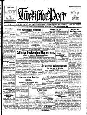 Türkische Post vom 22.03.1931