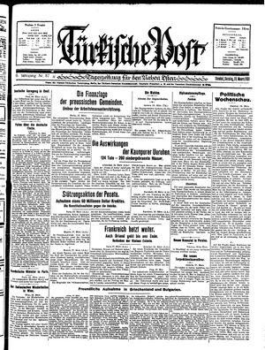 Türkische Post vom 29.03.1931