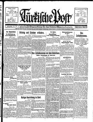 Türkische Post vom 31.03.1931