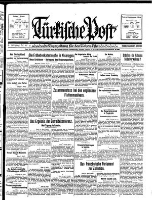 Türkische Post vom 04.04.1931