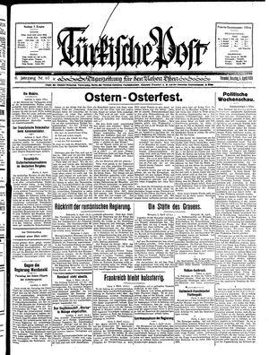 Türkische Post vom 05.04.1931
