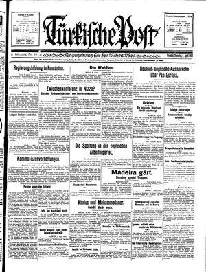 Türkische Post vom 07.04.1931