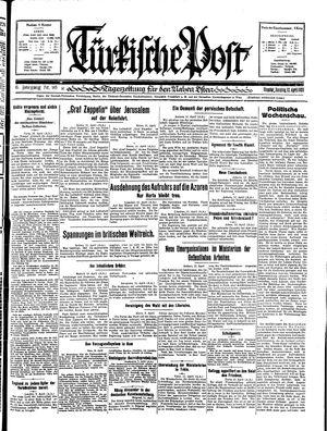 Türkische Post vom 12.04.1931