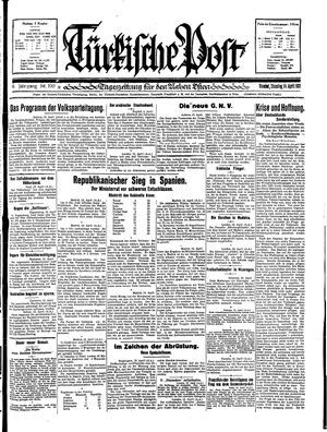 Türkische Post vom 14.04.1931