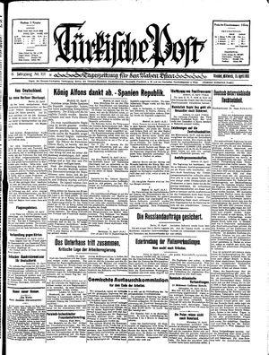 Türkische Post vom 15.04.1931