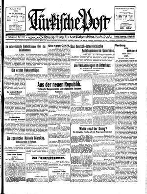 Türkische Post vom 16.04.1931