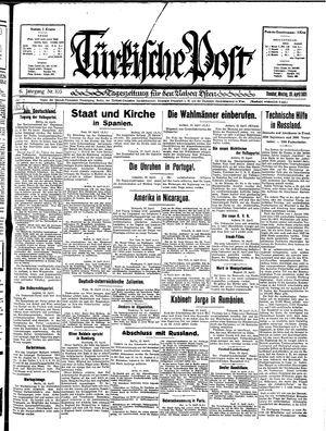 Türkische Post vom 20.04.1931