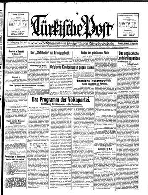 Türkische Post vom 22.04.1931