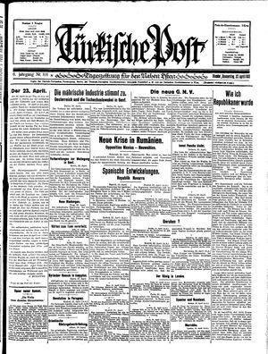 Türkische Post vom 23.04.1931