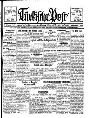 Türkische Post vom 02.05.1931