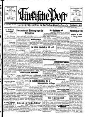 Türkische Post vom 07.05.1931
