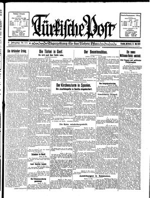 Türkische Post vom 13.05.1931