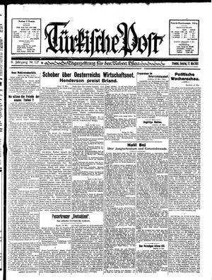 Türkische Post vom 17.05.1931