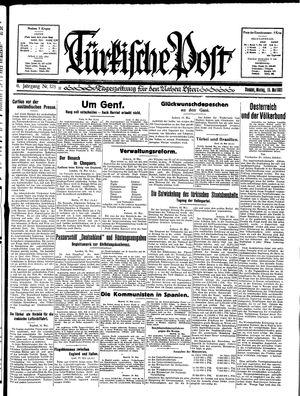 Türkische Post vom 18.05.1931