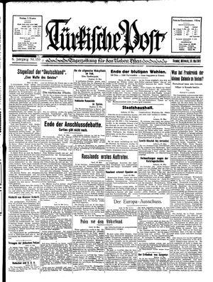 Türkische Post vom 20.05.1931