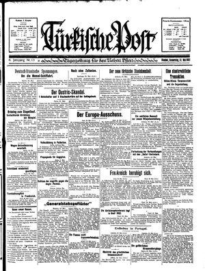 Türkische Post vom 21.05.1931