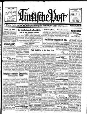Türkische Post vom 26.05.1931