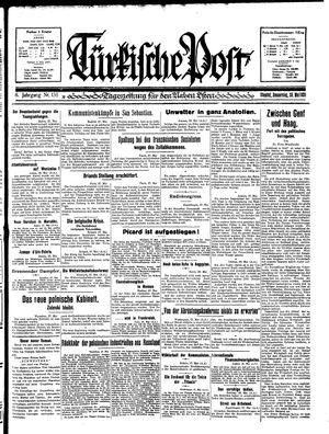 Türkische Post vom 28.05.1931