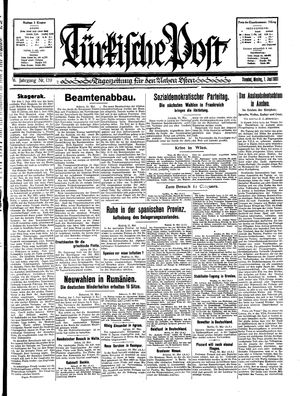 Türkische Post vom 01.06.1931