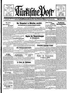 Türkische Post vom 07.06.1931