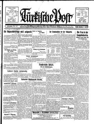 Türkische Post vom 13.06.1931