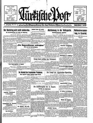 Türkische Post vom 17.06.1931