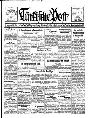 Türkische Post vom 18.06.1931