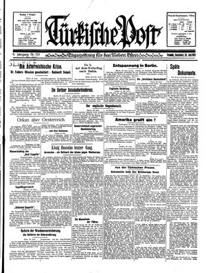 Türkische Post vom 20.06.1931