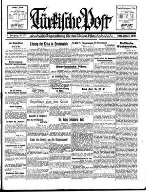 Türkische Post vom 21.06.1931