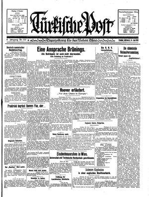 Türkische Post vom 24.06.1931