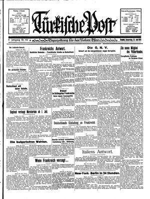 Türkische Post vom 25.06.1931