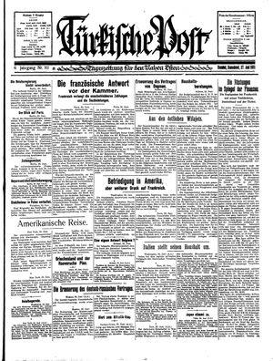 Türkische Post vom 27.06.1931