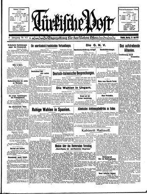 Türkische Post vom 29.06.1931