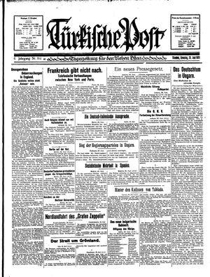 Türkische Post vom 30.06.1931