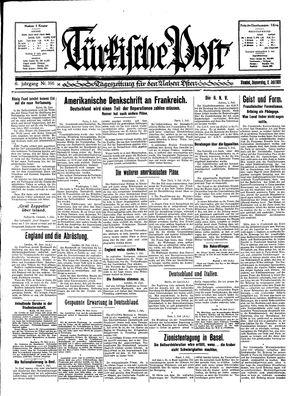 Türkische Post vom 02.07.1931