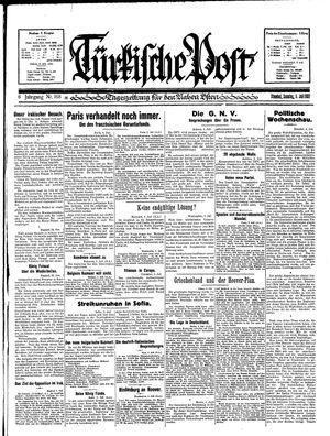 Türkische Post vom 05.07.1931
