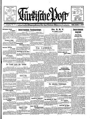 Türkische Post vom 11.07.1931