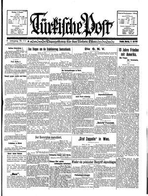 Türkische Post vom 13.07.1931