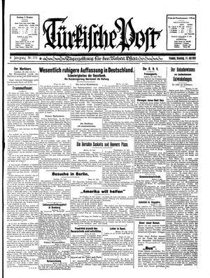 Türkische Post vom 14.07.1931