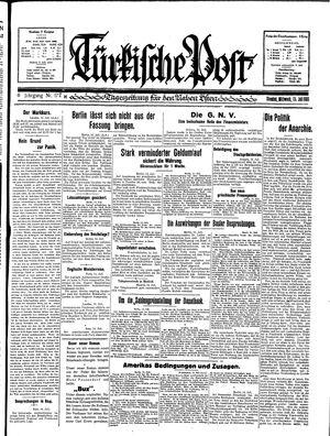 Türkische Post vom 15.07.1931