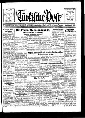 Türkische Post vom 19.07.1931